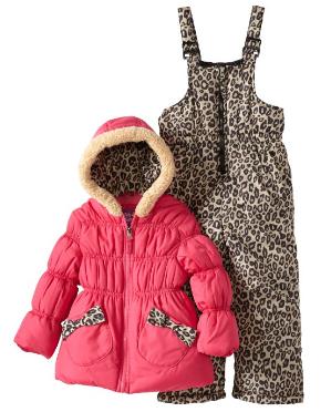 Cheetah Snowsuit Set for Girls