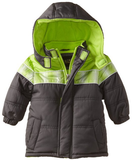 Boys Color Blocked Puffer Jacket