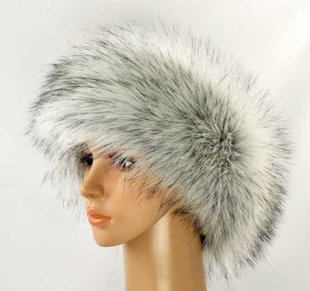 Faux Fur Headband For Women Winter Earwarmer Earmuff Hat Ski
