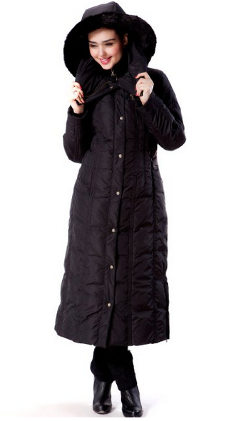 Phistic Womens Long Hooded Puffer Down Coat