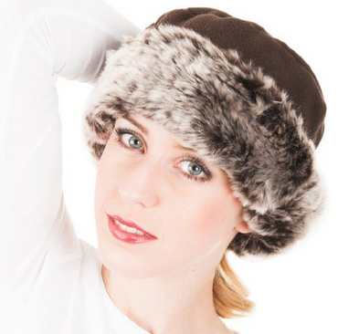 Satsumauk Womens Ladies One Size up to 57cm Faux Fur and fleece Crown Hat