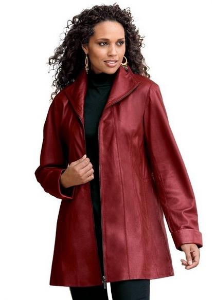 8e02dc10613 Roamans Plus Size A Line Leather Jacket - Winter Fashion House