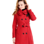 Charex Wool Trench Coat for Women
